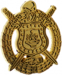 View Buying Options For The Omega Psi Phi Escutcheon Shield Polished Sandblasted Lapel Pin