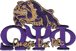 View Buying Options For The Omega Psi Phi Signature Bulldog Iron-On Patch