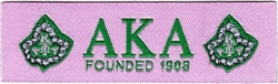 View Buying Options For The Alpha Kappa Alpha Founded 1908 Thin Woven Label Iron-On Patch [Pre-Pack]