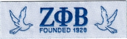 View Buying Options For The Zeta Phi Beta Founded 1920 Thin Woven Label Iron-On Patch [Pre-Pack]