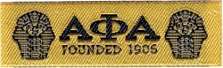 View Buying Options For The Alpha Phi Alpha Founded 1906 Thin Woven Label Iron-On Patch [Pre-Pack]