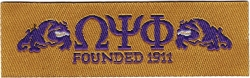 View Buying Options For The Omega Psi Phi Founded 1911 Thin Woven Label Iron-On Patch [Pre-Pack]