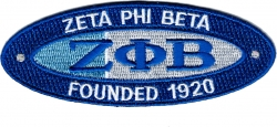 View Buying Options For The Zeta Phi Beta Founded 1920 Oval Iron-On Patch