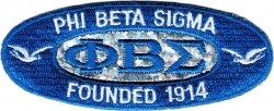 View Buying Options For The Phi Beta Sigma Founded 1914 Oval Holographic Iron-On Patch