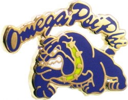 View Buying Options For The Omega Psi Phi Bulldog Script Rocker Lapel Pin