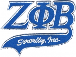 View Buying Options For The Zeta Phi Beta Tail Tackle Twill Iron-On Patch