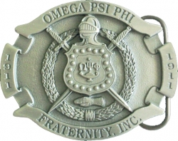 View Buying Options For The Omega Psi Phi 3D Oval Escutcheon Shield Mens Belt Buckle