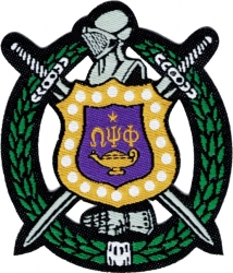 View Buying Options For The Omega Psi Phi Shield Thin Woven Label Iron-On Patch [Pre-Pack]