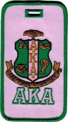 View Buying Options For The Alpha Kappa Alpha Crest Twill Luggage Tag