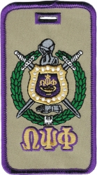View Buying Options For The Omega Psi Phi Escutcheon Shield Twill Luggage Tag