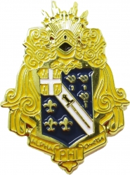 View Buying Options For The Alpha Phi Omega Shield Lapel Pin