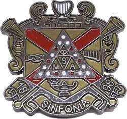 View Buying Options For The Phi Mu Alpha Sinfonia Shield Lapel Pin