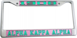 View Buying Options For The Alpha Kappa Alpha 1908 License Plate Frame