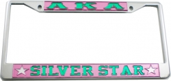 View Buying Options For The Alpha Kappa Alpha Silver Star License Plate Frame