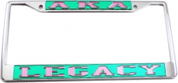 View Buying Options For The Alpha Kappa Alpha Legacy License Plate Frame