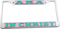 View Buying Options For The Alpha Kappa Alpha In Christ License Plate Frame