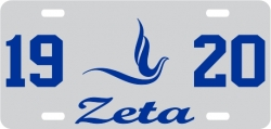 View Buying Options For The Zeta Phi Beta 1920 Dove Mirror License Plate