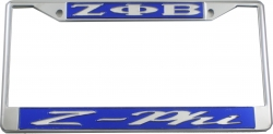 View Buying Options For The Zeta Phi Beta Z-Phi License Plate Frame