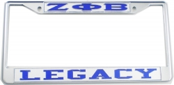 View Buying Options For The Zeta Phi Beta Legacy License Plate Frame