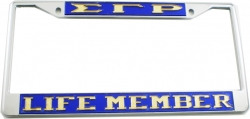 View Buying Options For The Sigma Gamma Rho Life Member License Plate Frame