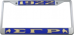 View Buying Options For The Sigma Gamma Rho 1922 Poodles Big Letter License Plate Frame