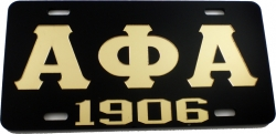View Buying Options For The Alpha Phi Alpha 1906 Mirror License Plate