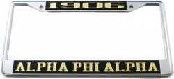View Buying Options For The Alpha Phi Alpha 1906 License Plate Frame