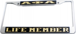 View Buying Options For The Alpha Phi Alpha Life Member License Plate Frame