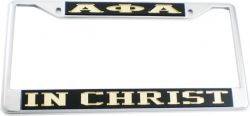 View Buying Options For The Alpha Phi Alpha In Christ License Plate Frame