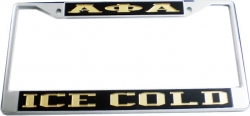 View Buying Options For The Alpha Phi Alpha Ice Cold License Plate Frame