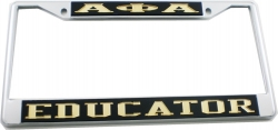 View Buying Options For The Alpha Phi Alpha Educator License Plate Frame