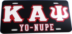 View Buying Options For The Kappa Alpha Psi Yo-Nupe Outline Mirror License Plate