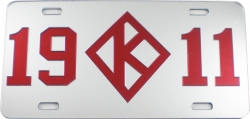 View Buying Options For The Kappa Alpha Psi 1911 Diamond Mirror License Plate