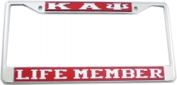 View Buying Options For The Kappa Alpha Psi Life Member License Plate Frame