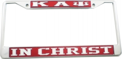 View Buying Options For The Kappa Alpha Psi In Christ License Plate Frame