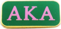 View Buying Options For The Alpha Kappa Alpha 3 Letter Rectangular Lapel Pin