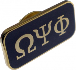 View Buying Options For The Omega Psi Phi 3 Letter Rectangular Lapel Pin