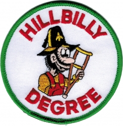 View Buying Options For The Shriner Crutch Hillbilly Degree Round Iron-On Patch