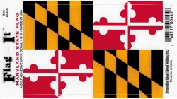 View Buying Options For The Maryland State Flag Car Decal Sticker [Pre-Pack]