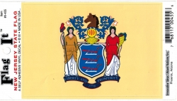 View Buying Options For The New Jersey State Flag Car Decal Sticker [Pre-Pack]