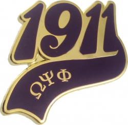 View Buying Options For The Omega Psi Phi 1911 Tail Lapel Pin