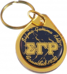 View Buying Options For The Sigma Gamma Rho Small Tear Drop Domed Mirror Keychain