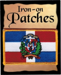 View Buying Options For The Dominican Republic Flag Iron-On Patch [Pre-Pack]