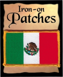 View Buying Options For The Mexico Flag Iron-On Patch [Pre-Pack]