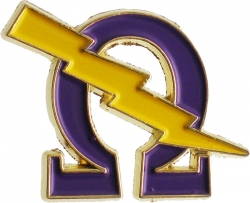 View Buying Options For The Omega Psi Phi Que Lightning Bolt Symbol Lapel Pin