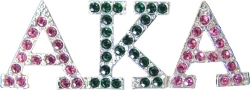 View Buying Options For The Alpha Kappa Alpha 2-Color Crystal Lapel Pin