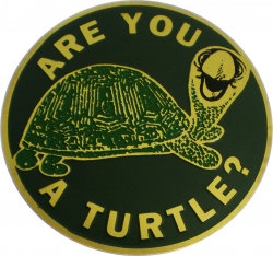 View Buying Options For The Shriner Are You A Turtle? Etched Round Car Emblem