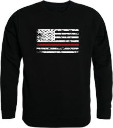 View Buying Options For The RapDom Thin Red Line Flag Graphic Mens Crewneck Sweatshirt