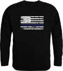 View Buying Options For The RapDom Thin Blue Line Graphic Mens Crewneck Sweatshirt