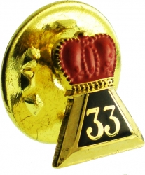 View Buying Options For The 33rd Degree Crown Symbol Small Lapel Pin